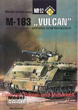 """Model Card - 92 - Panzer M-163 """"Vulcan"""" - 1:25"""