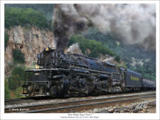 "Virginian Railway 2-6-6-6 Blue Ridge Railroad Art Print - 18"" x24"""
