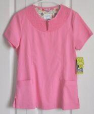 Dansco scrub top,NWT, womens, XS, solid pink