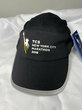 New Balance TCS New York City Marathon 2018 Black Gray Hat Cap Adjustable