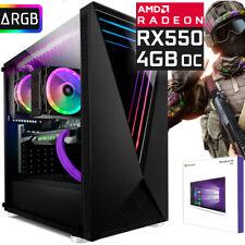 Gamer PC AMD Ryzen? 7 2700 8x 4,1 Ghz RADEON RX550 4GB Gaming M.2 SSD Windows10