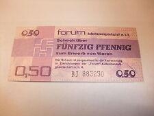 DDR Geldschein Original DDR Forumscheck Banknote Fünfzig Pfennig  Kassenfrisch