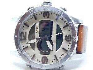 Fossil JR1506 All Stainless Steel Quartz Analog Digital Men's Watch