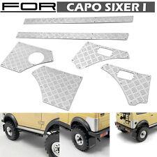 Para 1/6 CAPO Sixer 1 Suzuki Samurai RC Coche Metálica Frontal Trasera Anti-Skid Placa Lateral
