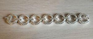White Gold Plated Swarovski Custom Statement Bracelet appraised $1500CDN New
