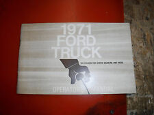 1971 FORD TRUCK 500-750/6000-7000 SERIES FACTORY OWNERS MANUAL GUIDE 2ND PRINT