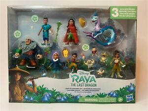 Disney's Raya and the Last Dragon Land of Kumandra Figurine COMPLETE SET (NIP)