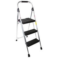 "NEW Quality Lightweight 3-Step 54"" Type-II Compact Folding Aluminum Stool Ladder"
