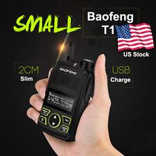 Baofeng T1 Handheld Walkie Talkie Headset Uhf 400-470Mhz 2-Way Radio 16 Channels