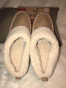 Women's Dearfoams Sherpa Faux Fur Memory Foam Slipper Sz XL 11-12 In/Outdoor NWT