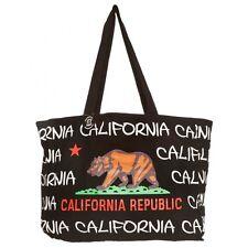 ROBIN RUTH  California Republic Bear Flag Canvas Tote Shoulder Bag