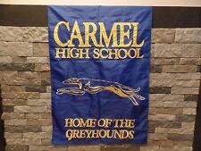 "Carmel High School Banner Flag Pennant Carmel Greyhounds Indiana Nylon 28"" x 44"""