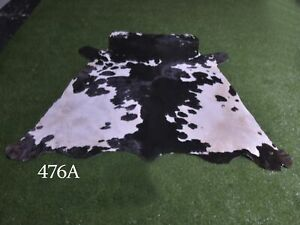 """New Cowhide Rugs Hair On COW HIDE Rugs Area Cow Skin Leather Rugs (58"""" x 52"""")"""