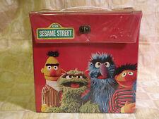 "Vintage 1970s SESAME STREET Record Storage Box 45rpm 7"" Vinyl Carrier Case"