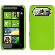 AMZER Silicone Soft Skin Jelly Fit Case Cover for HTC HD7 - Green