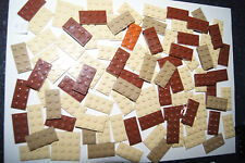 Lego BULK 96 BROWN 2X4 FLAT PLATES / Blocks # 3020 HOUSE / CASTLE (KJ) GENUINE