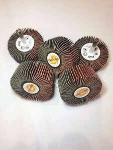 SPECIAL OFFER - 5 X Flap Wheels - 50 X 40mm on 6mm spindle (Choice of grits)