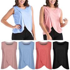 Maternity Clothes Breastfeeding Tank Tops Nursing Sleeveless T Shirt for Women