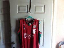 Vive Liga Adecco Basketball Jersey Diputacion de Granada Red Size XXL Very Rare
