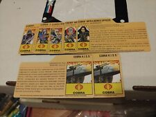 GI Joe 25th Anniversary File Card Lot Cobra Commander Destro Baroness Stormy