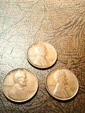 1937 P,D,and S Lincoln cents in Circulated  condition
