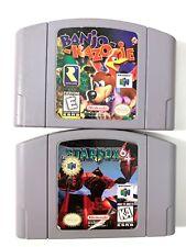 AUTHENTIC! Banjo Kazooie & Star Fox N64 Nintendo 64 Game Lot Tested