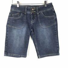YMI Jeans Shorts Size 5 Women Juniors Denim Straight Leg Dark Wash Stretch Blue