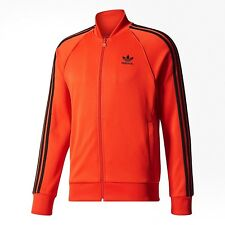 NWT Sz M Medium Adidas Originals Mens Trefoil Superstar Track Tops Jacket Corred