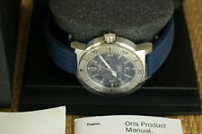 ORIS DAY DATE BC3 BIG CROWN BLUE MIL. DIAL DEPLOYMENT 200M DIVERS WATCH BOX SET