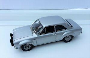 "Minichamps 1 18 Ford Escort MK 1 RS1600 ""AVO"" 1970 Silver Boxed Superb"