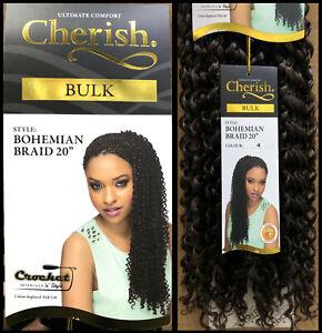 "Cherish Bulk Bohemian Braid 20"" Synthetic Crochet Braid Curly Hair Extensions"