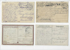 AUSTRIA & GERMANY FELDPOST  WWI  7 POSTCARDS POSTED 1915, 1917