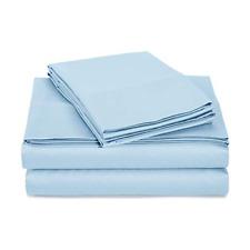 Signet by Baltic Linen 1000 Thread Count Queen Sheet Set-Light Blue