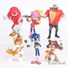 Sonic The Hedgehog Knuckles Tails lot de 6 figurines poupées jouets enfant