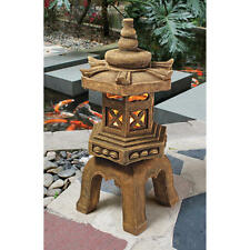 "27"" Sacred Asian Japanese Temple Pagoda Illuminated LED Garden Statue"