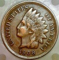 1908 INDIAN HEAD PENNY - VF - LIBERTY - Diamonds