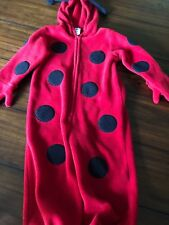 Old Navy LADYBUG Costume 2T Black & Red Halloween Dress Up Bodysuit Warm
