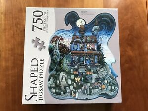 New  750pc Shaped Puzzle Kathy Jakobsen  Boo! Halloween