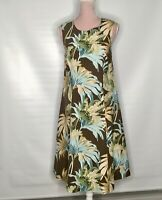 Tommy Bahama Summer Dress  100%  Silk  Lovely Floral Pattern Sleeveless  Size 14