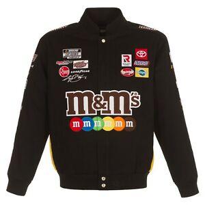 Authentic 2021 Kyle Busch JH Design M&M's Snap Black Cotton Jacket