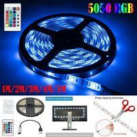 USB LED Strip Light 5050 RGB Color Changing TV Backlight Bike Car Decor Lamp Set