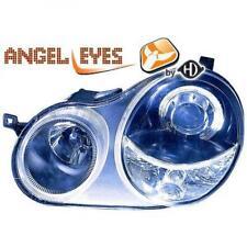 RHD LHD Projector Headlights Pair Angel Eyes Clear Black H7 h7 For VW Polo 01-05