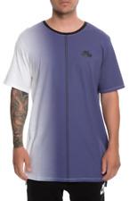 NIKE Dip Dye Foam T-Shirt sz L Large White Varsity Purple