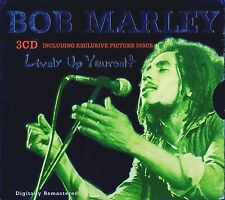 BOB MARLEY  Lively Up Yourself (3 Picture Discs) IMPORT RARE Box 3 CD Remastered