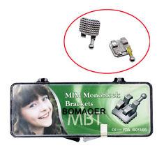 10xDental teeth orthodontic MIM mental bracket brace Mini MBT slot 022 345hooks