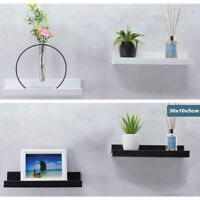 2pc Wall Mounted Floating Wall Shelf Hanging Storage Picture Ledge Display Book