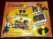 GLI INCREDIBILI Storybook album completo con 72 figurine da attaccare + scatola