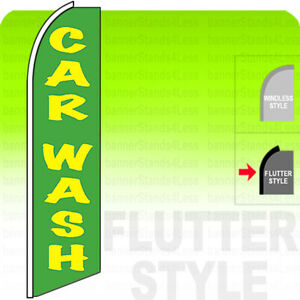 CAR WASH  Swooper Flag Feather Banner Sign 11.5' Tall FLUTTER Style gb