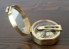 Brunton compass directional antique brass camping hiking maritime collectible