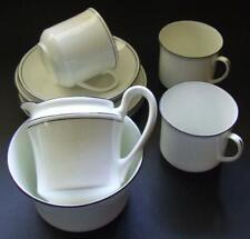 Three English Salt & Nixon Vintage Trios with Matching Milk Jug & Sugar Basin